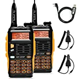 Baofeng GT-3TP Mark III - Walkie-talkie de doble banda UHF/VHF 2 m/70 cm, dispositivo de radio Tri-Power 8 W/4 W/1 W (2 unidades + 1 cable de programación)