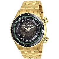 TechnoMarine Men's Manta 47mm Black Dial Stainless Steel Watch