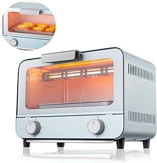 ZBHGF - Mini horno tostador de 9 L con bandeja extraíble para horno con puerta de acero inoxidable para tostadas y cocinas, a prueba de explosiones, vidrio templado