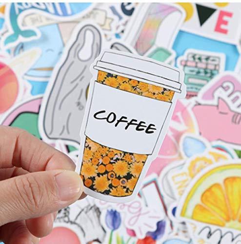DSSJ Pegatinas de Color pequeñas y Frescas para Maleta, Pegatinas de Graffiti, Impermeable, extraíble, Maleta con Ruedas, Pegatinas para portátil, 50 Uds.