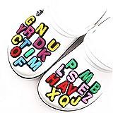 Angoter 1pcs Shoe Charms Decoración 26 Letras inglesas Accesorios Combinación de Calzado para Croc Fiesta del niño de Navidad aleatoria Estilo
