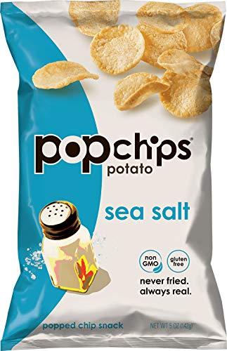 Popchips Potato Chips Sea Salt 5 oz Bags (Pack of 12)