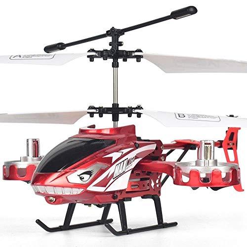 Helicóptero RC de 4.5 Canales, Avión RC anticaída de aleación de Mosca Lateral acrobática con Luces LED, Helicóptero RC de Doble hélice, niños