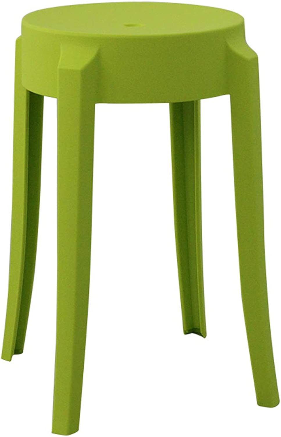 LRW Plastic Stools Thickened Adult Fashionable Small Stools, Modern Household High Stools, European Style Stool Chairs, Light Green