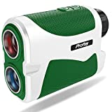 Profey Golf Rangefinder, 6X Laser Range Finder with Slope On/Off, 1500 Yard Flag Lock with Vibration, Continuous Scan,Carrying Case, Free Battery
