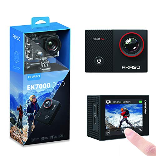 AKASO EK7000 Pro 4K Action Camera with Touch Screen EIS Adjustable View Angle Web...
