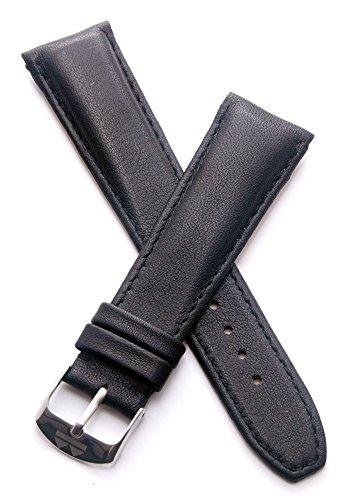 Relógios reedição Watchstrapworld TH-22-01-0121P#2-22 mm pulseira de relógio de couro preto com fivela de pino compatível com Heuer Monaco e TAG Heuer Monaco