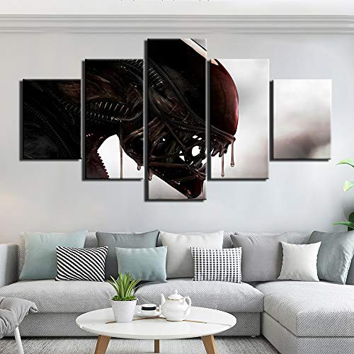 HD-Drucke Leinwandbilder Moderne Wandkunst 5 Stück Alien Vs. Predator Paintings Poster für Schlafzimmer Home Decor (size)