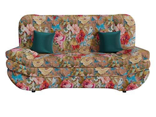 Mirjan24 Schlafsofa Weronika by Toptextil, Couch mit Bettkasten, Sofa mit Schlaffunktion, Materialauswahl, Wohnlandschaft vom Hersteller (Lea 531 + Lea 531 + Prestige 2772)