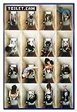 Close Up Toilet.Cam Poster (94x63,5 cm) gerahmt in: Rahmen