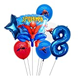 WHBGKJ Globo 1 Set Spiderman Set Globo Age Boy and Girl Numbered Globo Set Child Birthday Fiesta Decoración de la Fiesta Toy Latex Ball decoración (Color : 8)