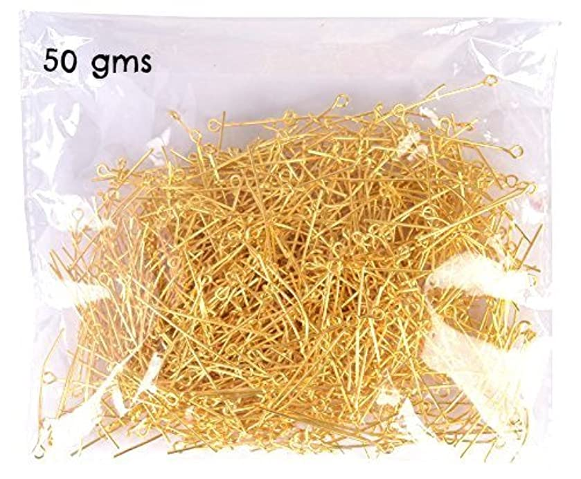 GOELX Diy Jewellery Findings Ipins Gold 50 Gms Pack For Jewellery Making Crafts