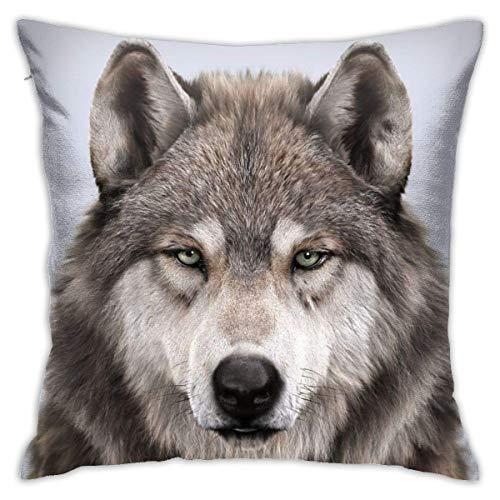Moily Fayshow Wolf Portrait 40 X 40 Cm Cushion Case European Throw Pillow Cover Decorative Pillow