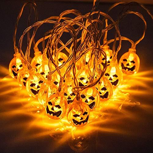 String Light für Halloween,3.3M 20LED Kürbis Lichterkette,Kürbis Lichterkette Deko,Kürbis Lichter,3D LED Lichterkette,LED Kürbis Lichterkette,LED wasserdichte 3D Kürbis Lichter,Halloween LED Lichter