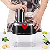 Moongiantgo Spiralizer Electric Veggie Spiralizer 4 in 1 Vegetable Slicer Zucchini Noodle Pasta Spaghetti Maker Spiral Cutter for Cucumber Potato with BPA-Free Container (110V)