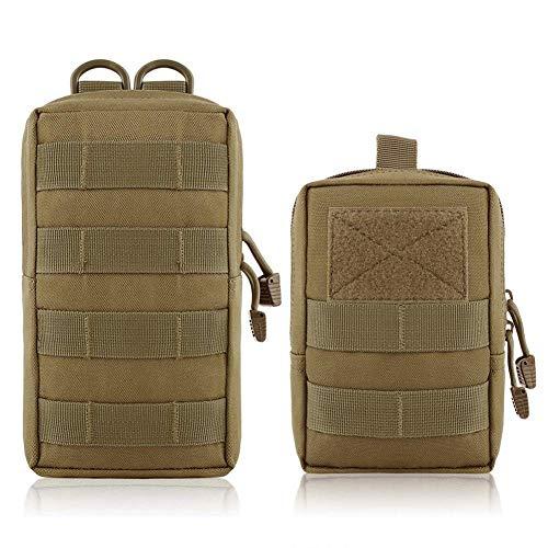 2 PCS Impermeabile Molle Tattico Borsa Multi-Purpose marsupio uomo Bag, Sacchetto Utility Gadget Cintura...