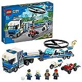 LEGO 60244 City Le transport de l'hélicoptère de la police avec un quad tout-terrain, une moto et un camion à remorque