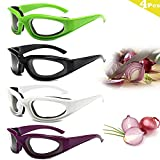 4 Pieces Onion Goggles, Tear Free Onion Glasses with Inside Sponge, Kitchen Gadget for Chopping Onion Cooking Grilling, Tearless Dustproof Eye Protector for BBQ, Women, Men, Cleaning, Kitchen and more