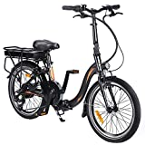 Bicicleta Eléctrica Plegable de 20 Pulgadas, Bicicletas Eléctricas para Adecuado para Adolescentes Mayores de 16 Años...