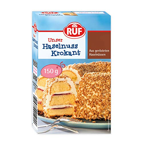 RUF Haselnuss-Krokant geröstete Haselnüsse karamellisiert, 11er Pack (11 x 150 g)
