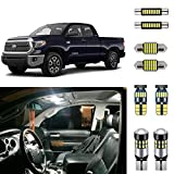 AUTOGINE Super Bright 6000K White LED Interior Light Bulbs Kit Package for 2007-2019 2020 2021 Toyota Tundra + Install Tool