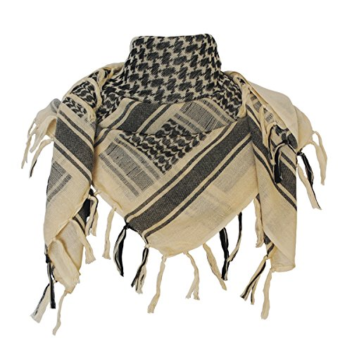 Explore Land Cotton Shemagh Tactical Desert Scarf Wrap (Tan)