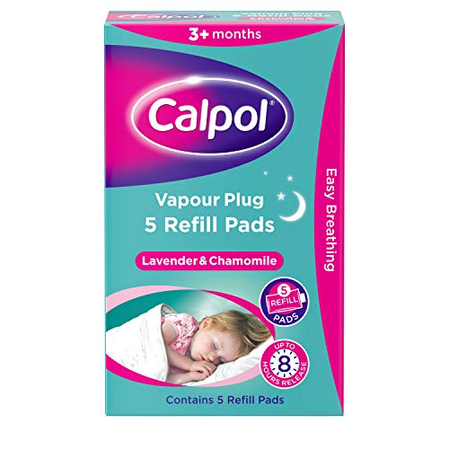 Calpol Vapour Plug Refill Pads Lavender & Chamomile 3+ Months, Pack of 5