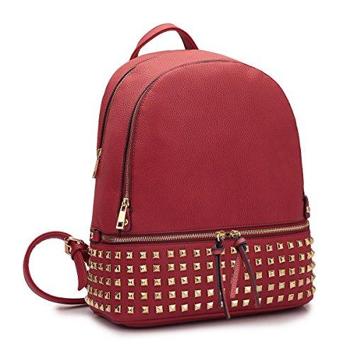 MKP COLLECTION Damen Fashion Rucksack Geldbörse Schlicht Designer Casual Daypack Schultasche Handtasche mit Handgelenk