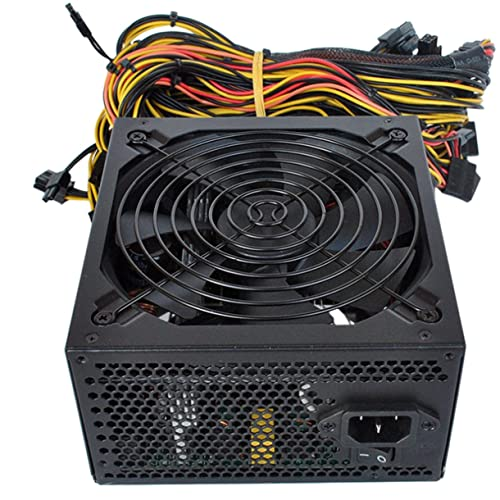 Mining Computer Mining Machine Power Supply Server dedicato con Cavo di Alimentazione 6 schede Server Dedicato Miner Power Supply - Nero 1800W