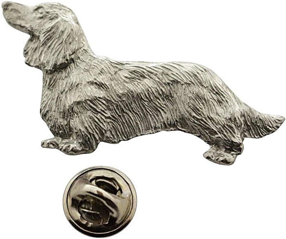 safety Sarah's Treats Treasures Long Haired Pin Antiqued Dachshund 2021 autumn and winter new ~