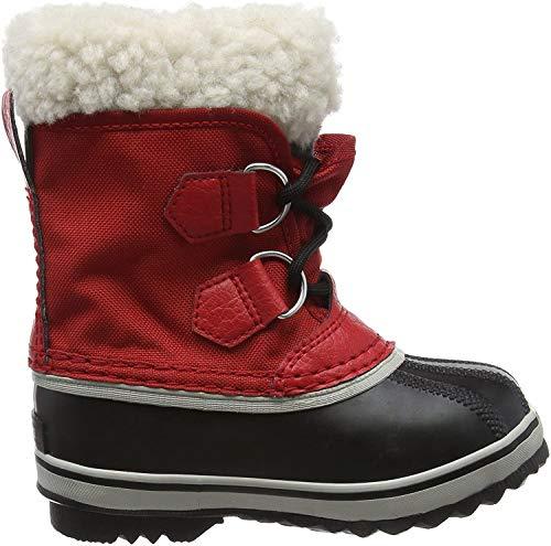 Sorel Kinder Childrens Yoot Pac Nylon Stiefel, rot (rocket)/schwarz (nocturnal), Größe: 25