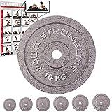 POWRX Hantelscheiben Set | verschiedene Gewichtsvarianten 5-40 kg | Gusseisen Gewichte | 30 mm...