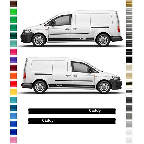 Auto-Dress® Seiten-Streifen Aufkleber Set/Dekor passend für Caddy Maxi in Wunschfarbe (Farbwunsch)