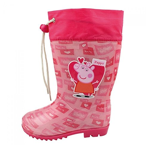 Peppa Pig Bottes de pluie motif Peppa Pig avec fermeture ajustable