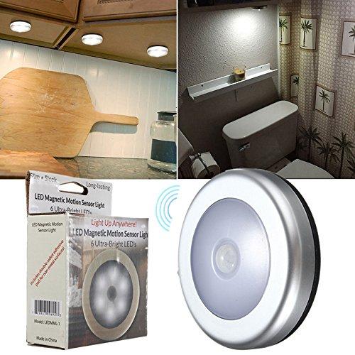 Taihang 6LED Wireless PIR Bewegungssensor Nachtlicht Wandschrank Kleiderschrank Schublade Lampe