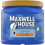 Maxwell House Half Caff Medium Roast Ground Coffee with 1/2 the Caffeine (25.6 oz Canister)