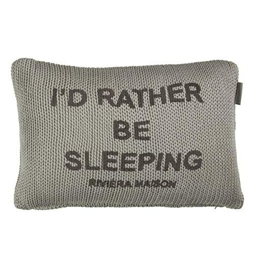 Riviera Maison decokussen Sleep Tight, 30 x 40 cm gevuld, grijs