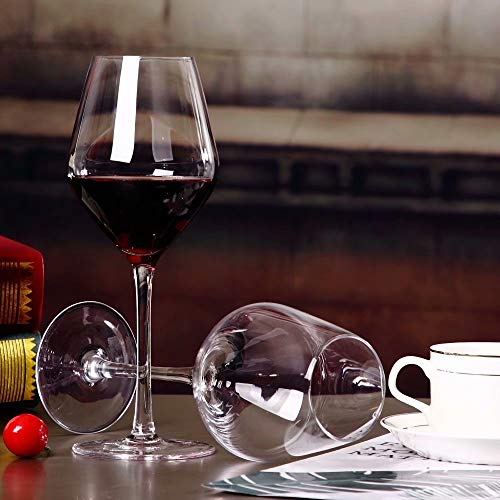 sucastle Crystal wijnglazen Bourgondische wijnglazen Gift Set Vaatwasser Safe 21oz Set van 2 Set of 2 Transparant