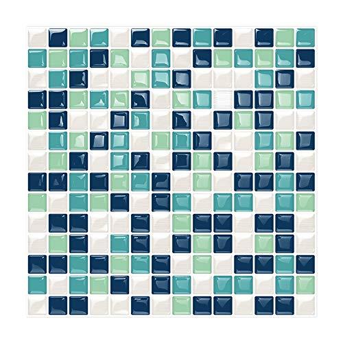 6 Unidades 3D autoadhesiva Etiqueta engomada azulejo