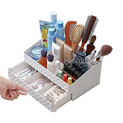 Caja de almacenamiento de joyería de maquillaje multifuncional accesorios cosméticos tocador baño caja de almacenamiento cosmética