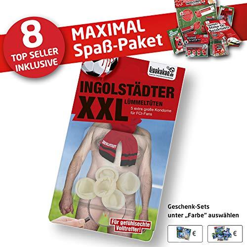 FCI Leder geldbörse ist jetzt Geschenk-Set: 4 - Das MAXIMAL-Spaßpaket für Ingolstadt-Fans by Ligakakao (8X Artikel)