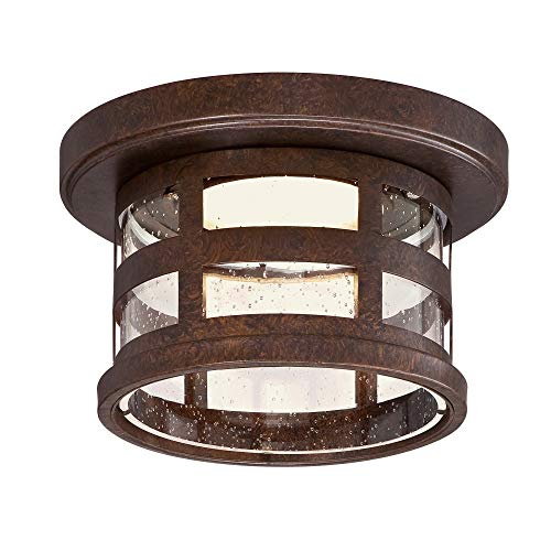 Design House 587212 Washburn Small 1 Rustic Bronze Integrated LED Outdoor Flush Mount Ceiling Light, 10