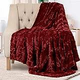 Everlasting Comfort Manta elegante de piel sintética - Suave y acogedora - Manta para sofá - Manta de pelo suave para...