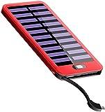 Gnceei Batterie Externe 16000mAh【Charge Rapide】 Mini Solaire Chargeur Portable Batterie de Secours avec 2 Ports USB Sortie Power Bank Compatible avec iPhone iPad Samsung Xiaomi Huawei etc.