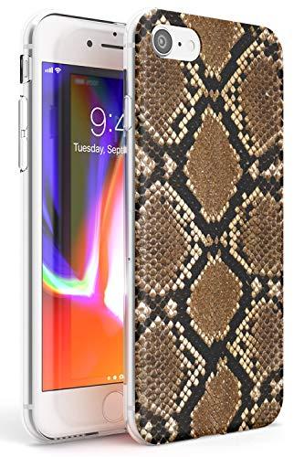 Piel de Serpiente Slim Funda para iPhone 6 TPU Protector Ligero Phone Protectora con La Manera Caliente De Fauna Silvestre Huella Animal Cuero Lindo