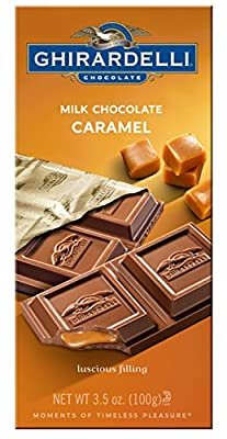 Ghirardelli Chocolate Bar, Milk and Caramel, 3.5 oz., 6 Count