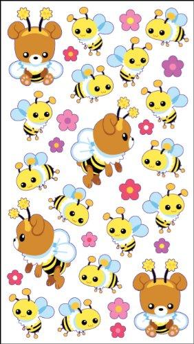Sticko Honig Bär und Bienen Aufkleber