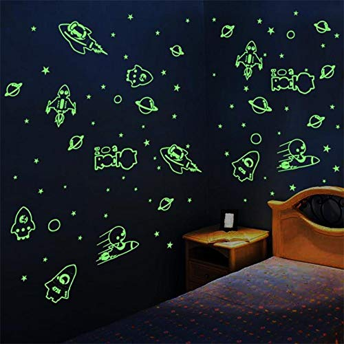 LIOOBO Las Pegatinas Fluorescentes 3D Brillan en la Oscuridad Las Estrellas y los Puntos DIY Luminoso Tatuajes de Pared para el Cuarto de ni/ños del beb/é Kids Room Decoraci/ón de Techo