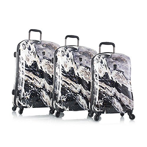 Fantastic Prices! Heys Fashion Spinner 3pc Luggage Set, Nero Marble Print