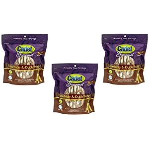 (3 Pack) Cadet Rawhide & Duck Dog Treat Twists; 50-Count Each